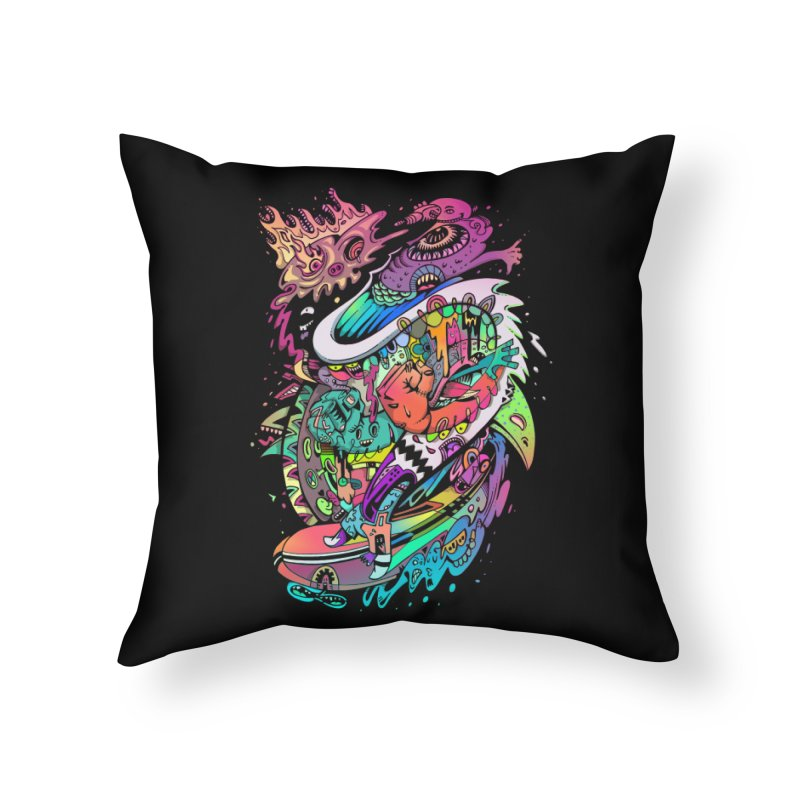 Doodles - 2007 N 10 Home Throw Pillow by Emerson Rauth