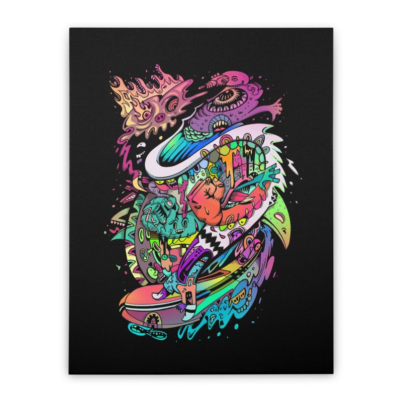Doodles - 2007 N 10 Home Stretched Canvas by Emerson Rauth