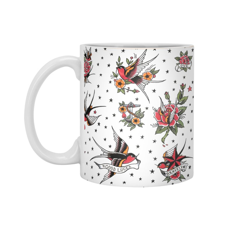 Old School Tattoo Style Accessories Mug by Emerson Rauth