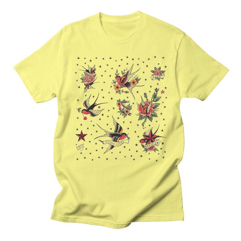 Old School Tattoo Style Women's Regular Unisex T-Shirt by Emerson Rauth
