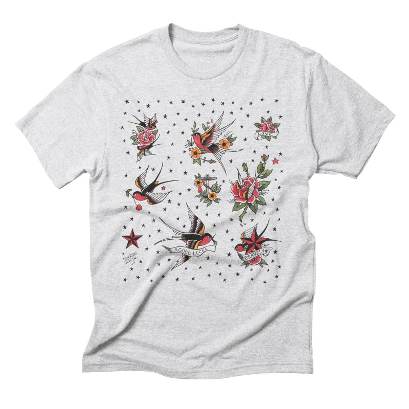 Old School Tattoo Style Men's Triblend T-Shirt by Emerson Rauth