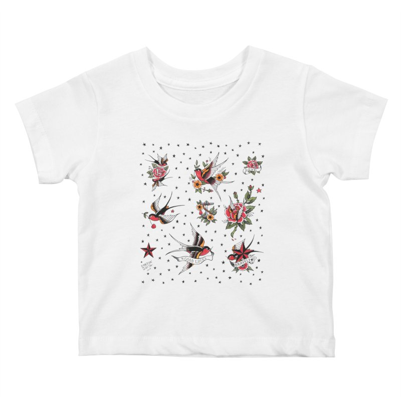 Old School Tattoo Style Kids Baby T-Shirt by Emerson Rauth