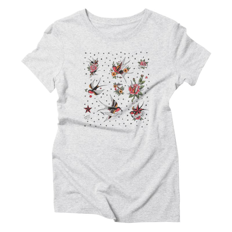 Old School Tattoo Style Women's Triblend T-Shirt by Emerson Rauth