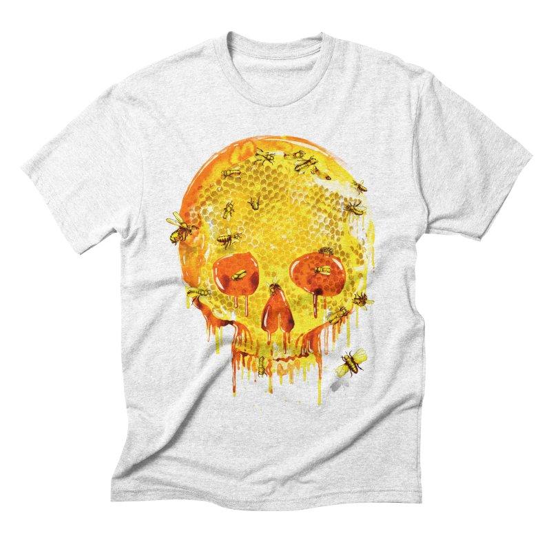 HONEY SKULL Men's Triblend T-shirt by Emerson Rauth