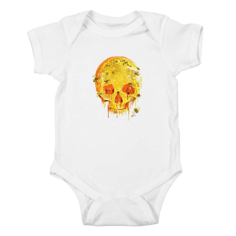HONEY SKULL Kids Baby Bodysuit by Emerson Rauth