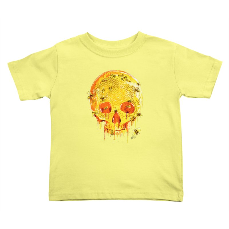 HONEY SKULL Kids Toddler T-Shirt by Emerson Rauth