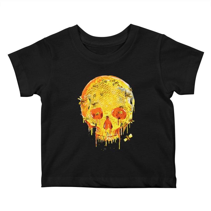 HONEY SKULL Kids Baby T-Shirt by Emerson Rauth