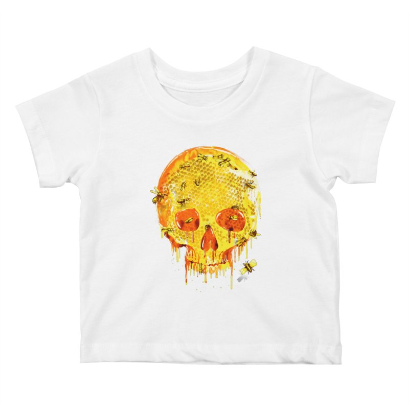 HONEY SKULL Kids Baby T-Shirt by Emerson Rauth