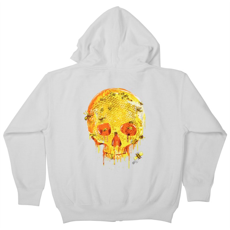 HONEY SKULL Kids Zip-Up Hoody by Emerson Rauth