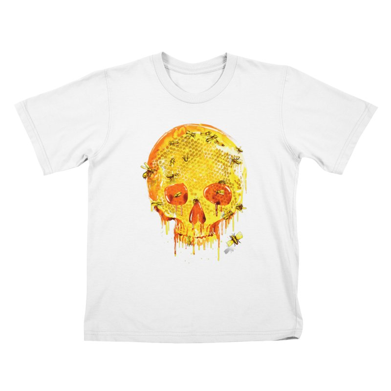 HONEY SKULL Kids T-shirt by Emerson Rauth