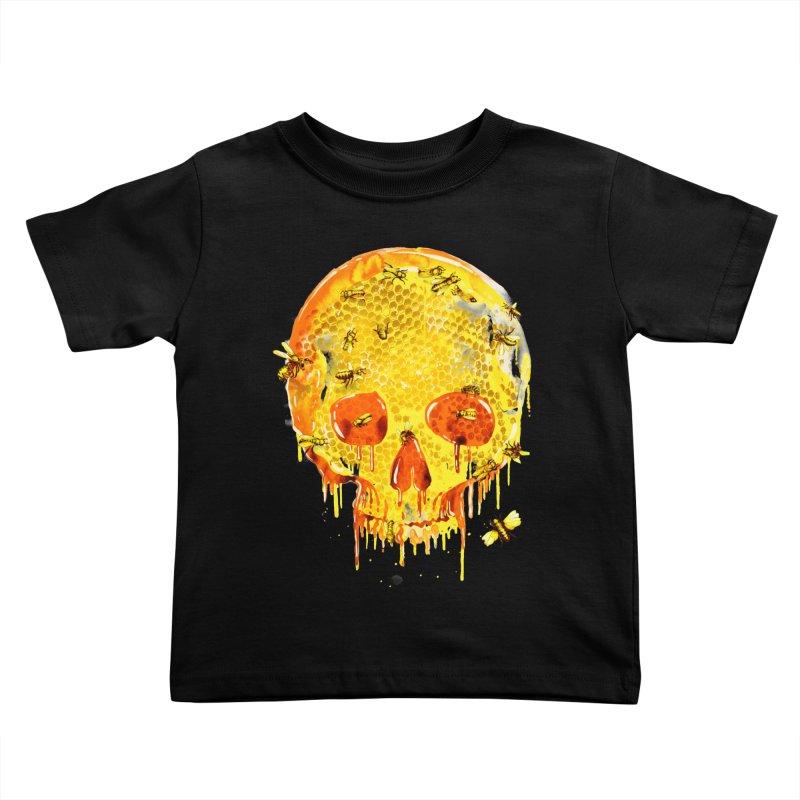 HONEY SKULL Kids Toddler T-Shirt by Emerson Rauth