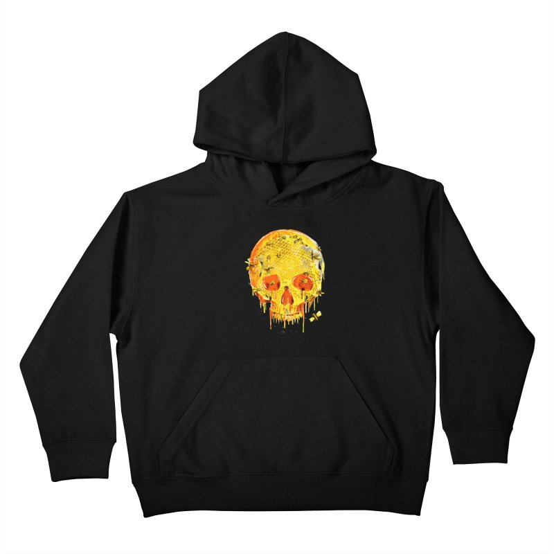 HONEY SKULL Kids Pullover Hoody by Emerson Rauth