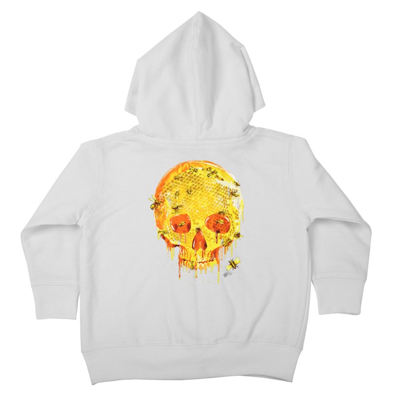 HONEY SKULL Kids Toddler Zip-Up Hoody by Emerson Rauth