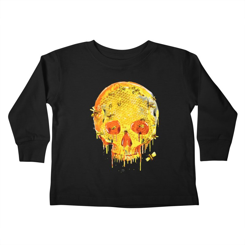 HONEY SKULL Kids Toddler Longsleeve T-Shirt by Emerson Rauth
