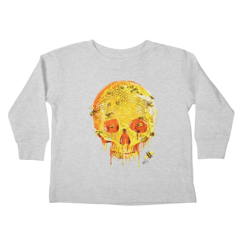 HONEY SKULL Kids Toddler Longsleeve T-Shirt by Emerson Rauth