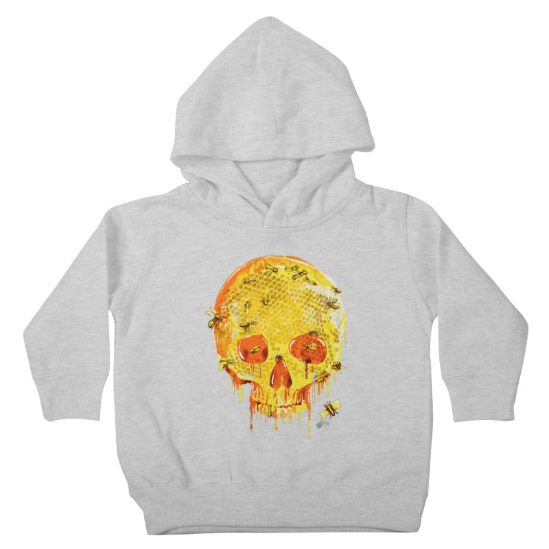 HONEY SKULL Kids Toddler Pullover Hoody by Emerson Rauth