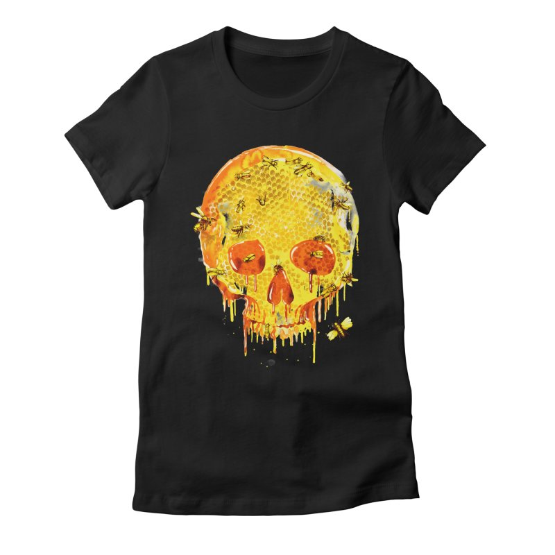HONEY SKULL Women's Fitted T-Shirt by Emerson Rauth