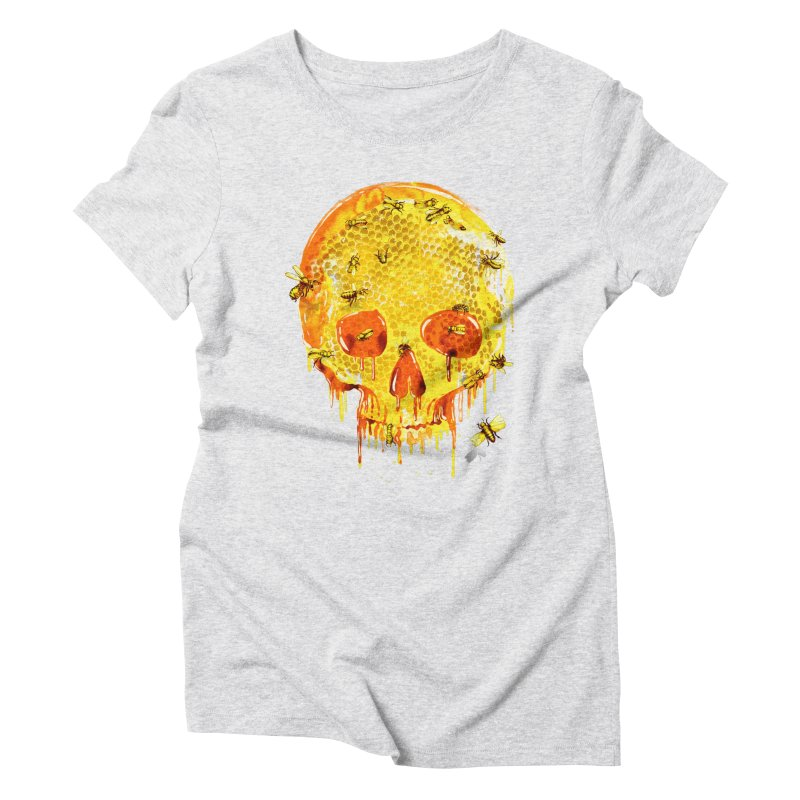 HONEY SKULL Women's Triblend T-shirt by Emerson Rauth