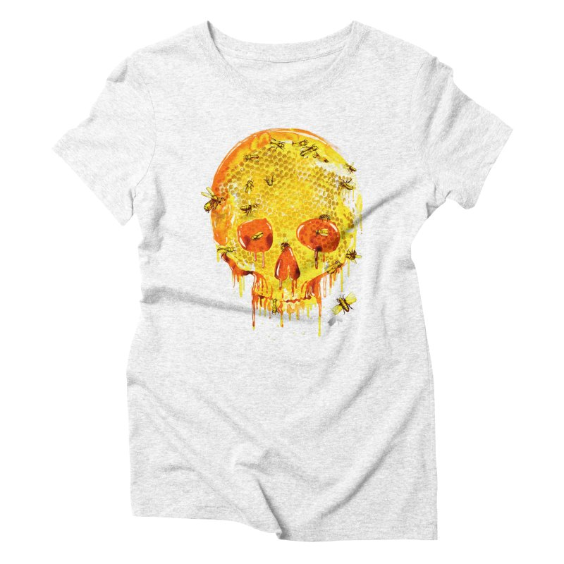 HONEY SKULL Women's Triblend T-shirt by Emerson Rauth