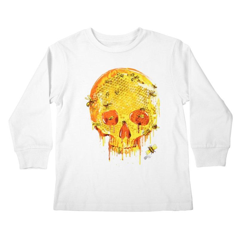 HONEY SKULL Kids Longsleeve T-Shirt by Emerson Rauth