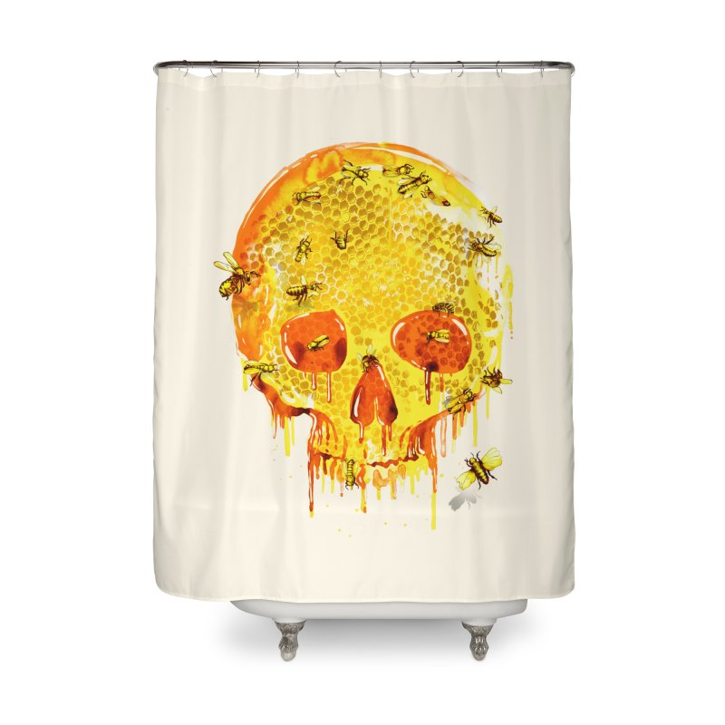 HONEY SKULL Home Shower Curtain by Emerson Rauth