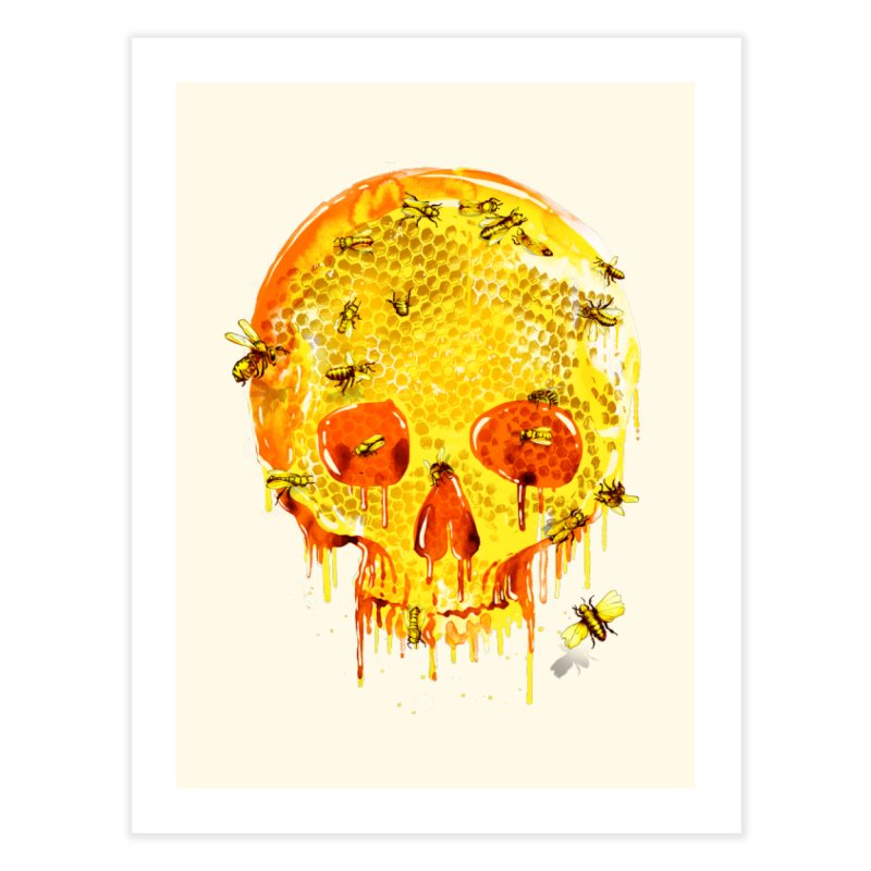 HONEY SKULL Home Fine Art Print by Emerson Rauth