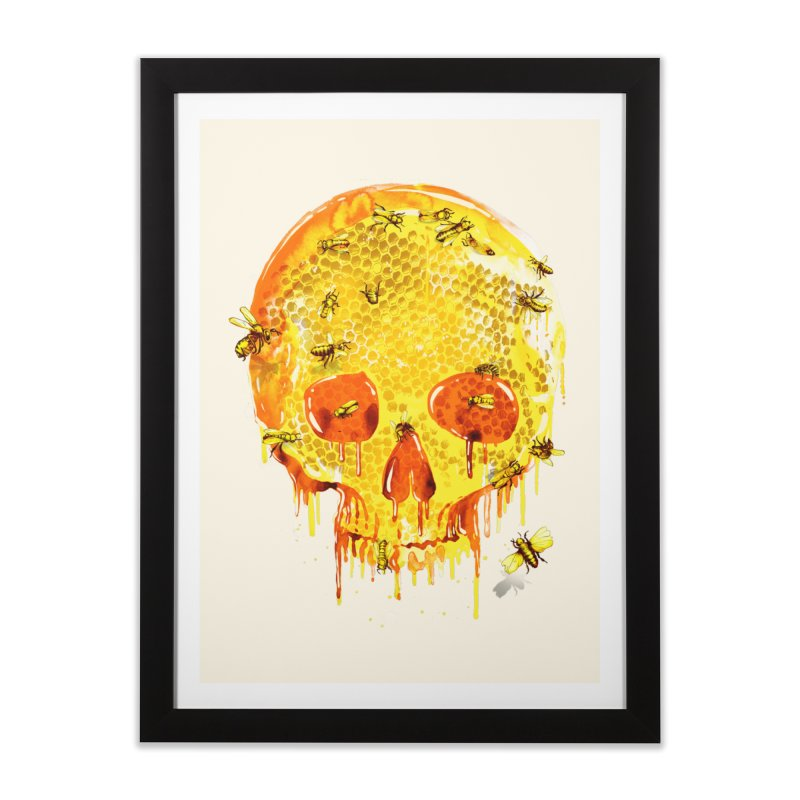 HONEY SKULL Home Framed Fine Art Print by Emerson Rauth