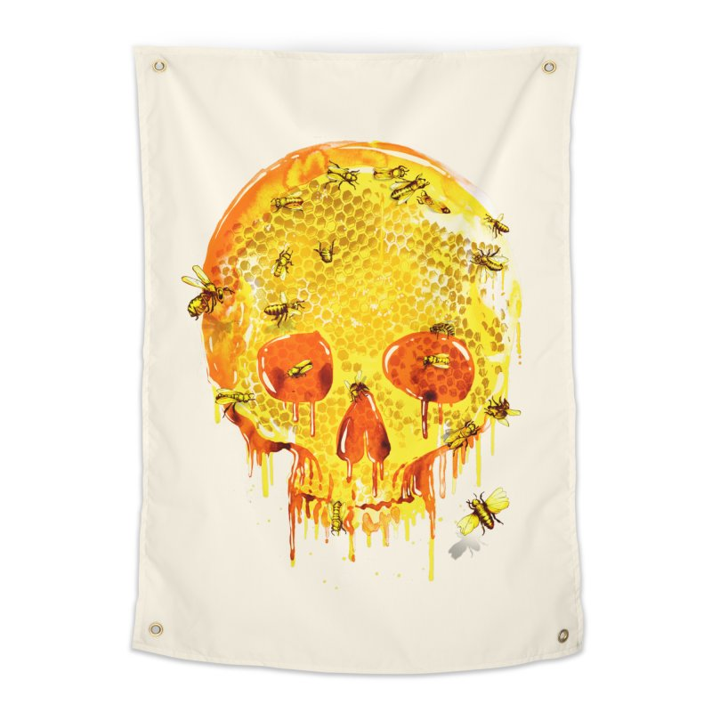 HONEY SKULL Home Tapestry by Emerson Rauth