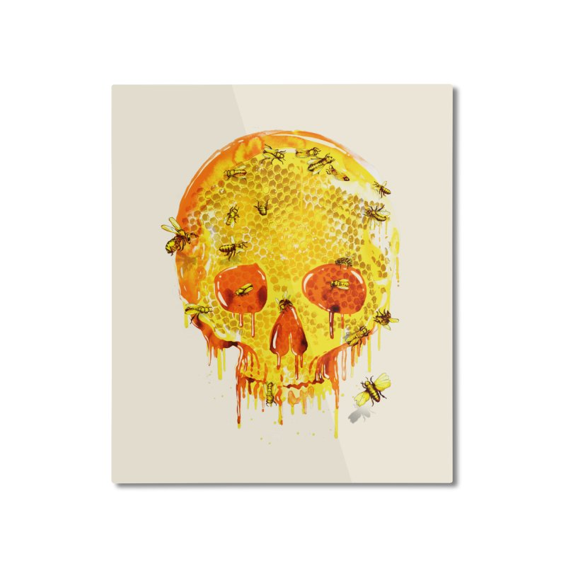 HONEY SKULL Home Mounted Aluminum Print by Emerson Rauth