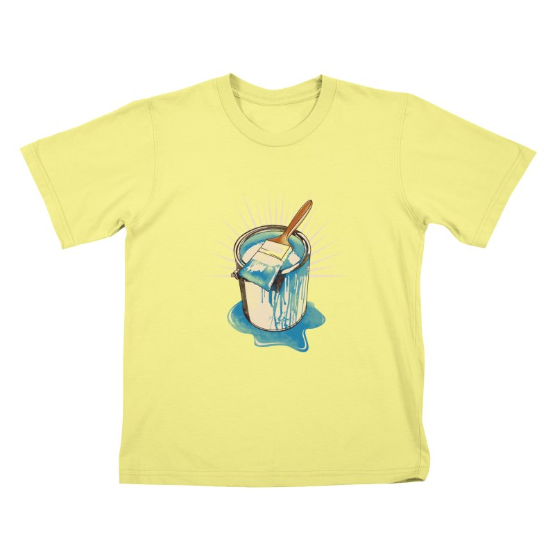 Wet paint! Kids T-shirt by Emerson Rauth