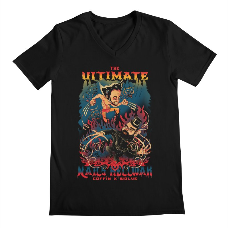 THE ULTIMATE NAILS HELLWAR Men's V-Neck by Emerson Rauth