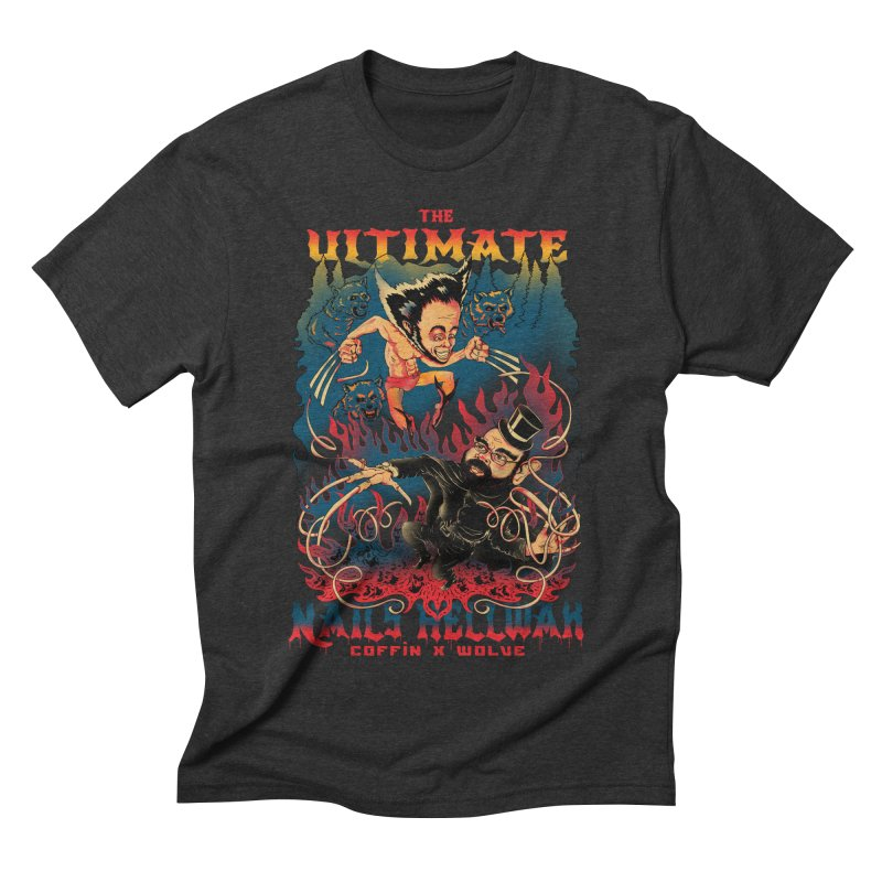 THE ULTIMATE NAILS HELLWAR Men's Triblend T-shirt by Emerson Rauth