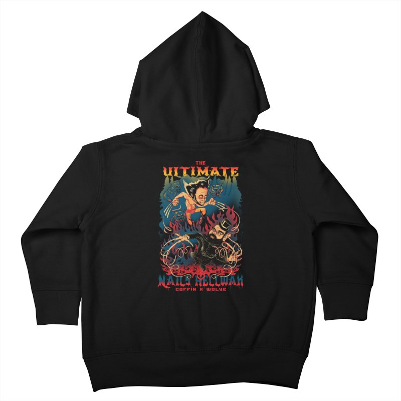 THE ULTIMATE NAILS HELLWAR Kids Toddler Zip-Up Hoody by Emerson Rauth