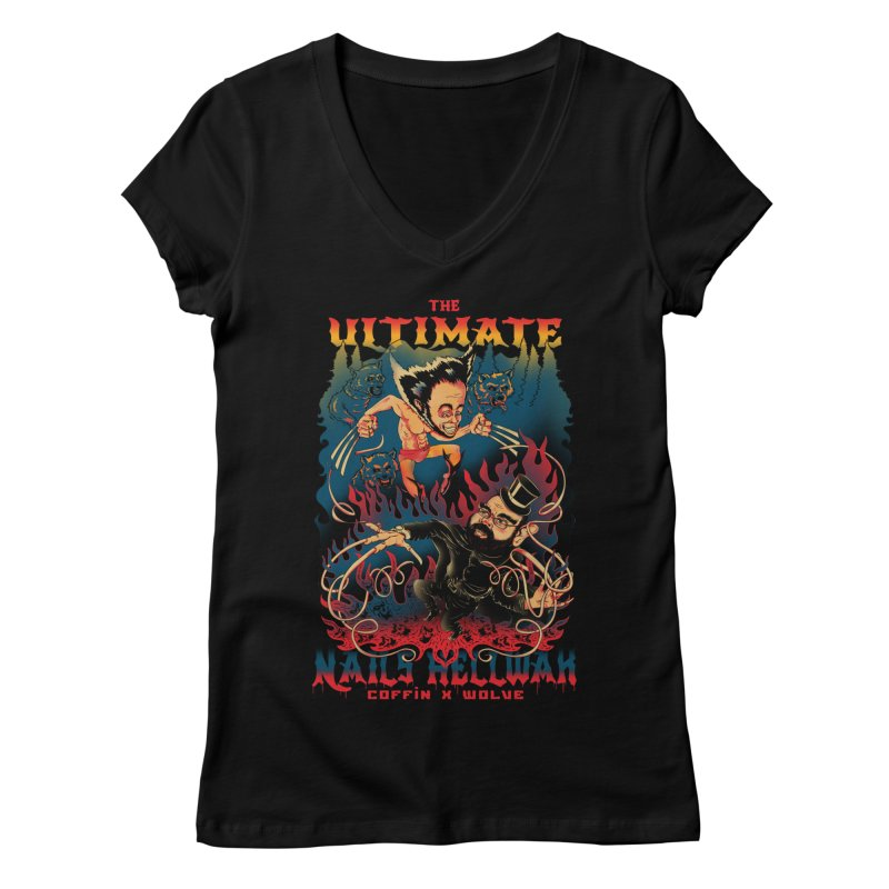 THE ULTIMATE NAILS HELLWAR Women's V-Neck by Emerson Rauth