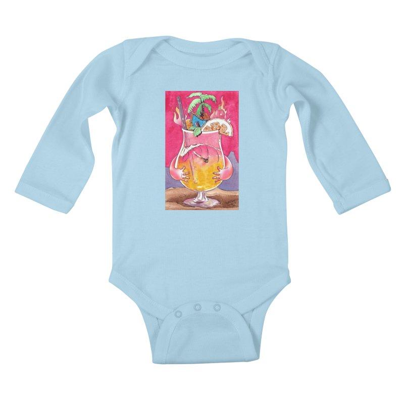 """Surf Rum"" Kids Baby Longsleeve Bodysuit by Emerson Rauth"