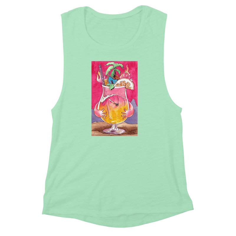 """""""Surf Rum"""" Women's Muscle Tank by Emerson Rauth"""