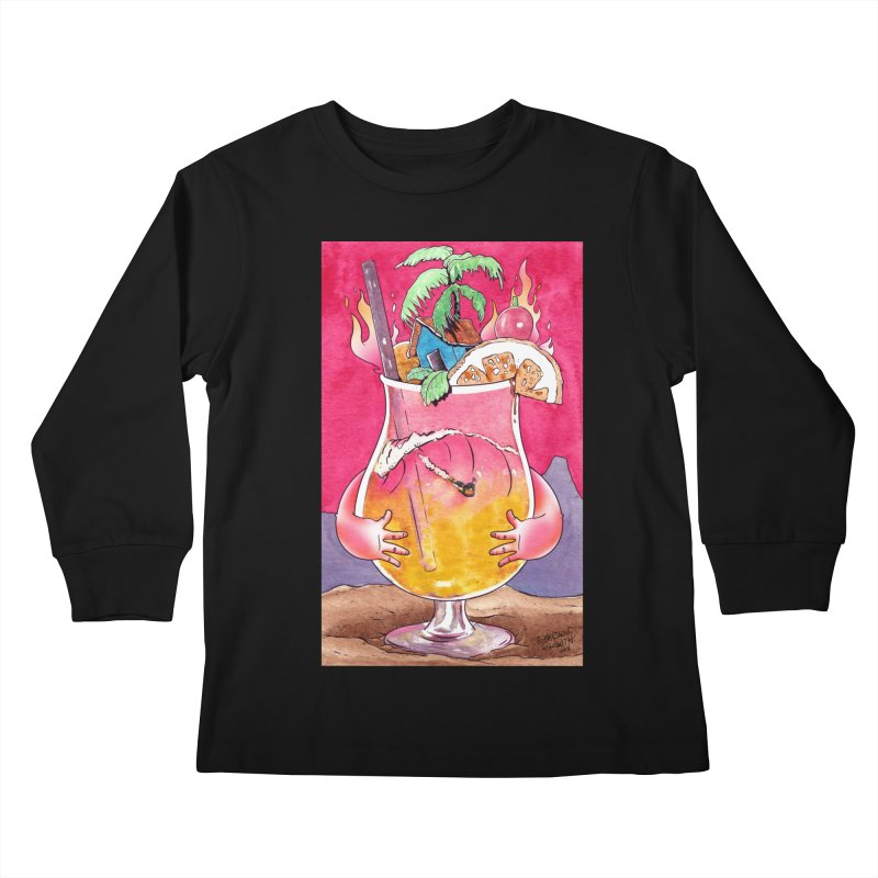 """Surf Rum"" Kids Longsleeve T-Shirt by Emerson Rauth"