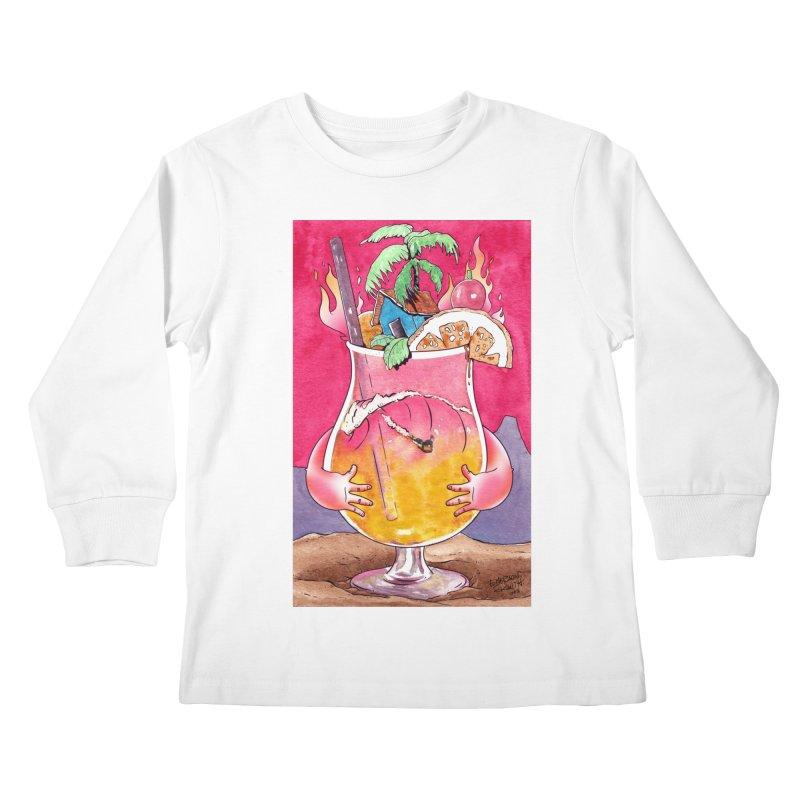 """Surf Rum"" Kids Longsleeve T-Shirt by Emerson Rauth"