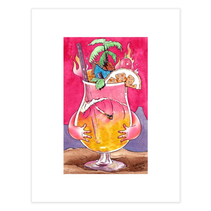 """""""Surf Rum"""" Home Fine Art Print by Emerson Rauth"""