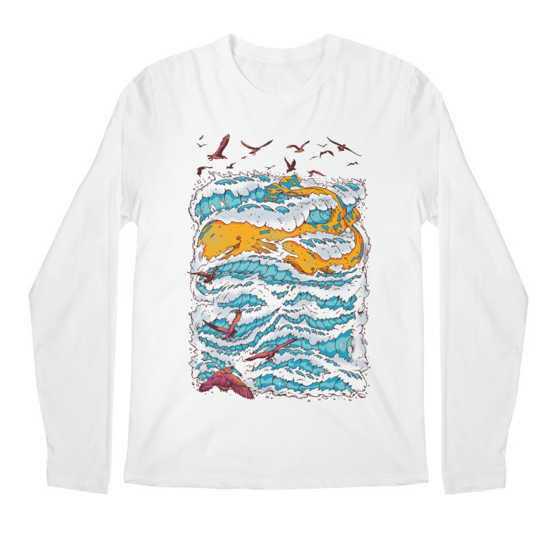 The Golden Whale Men's Longsleeve T-Shirt by Emerson Rauth