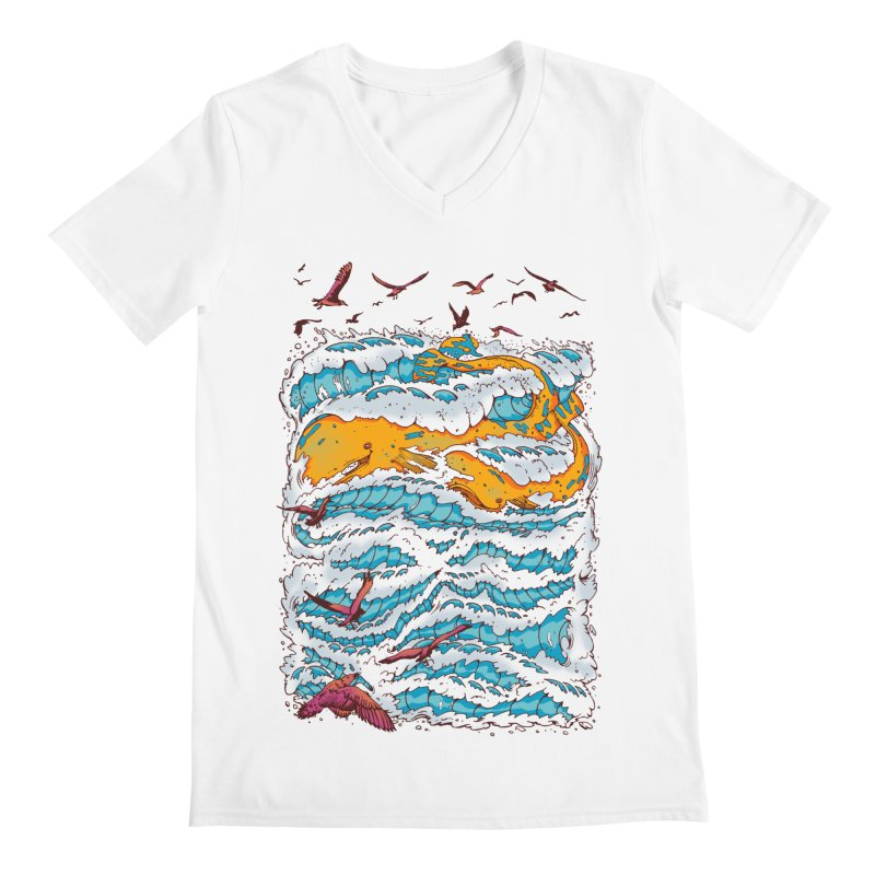 The Golden Whale Men's V-Neck by Emerson Rauth