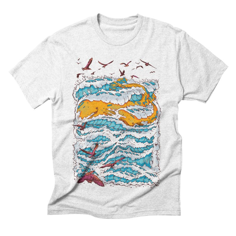 The Golden Whale Men's Triblend T-shirt by Emerson Rauth