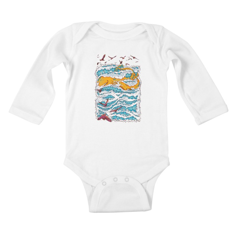 The Golden Whale Kids Baby Longsleeve Bodysuit by Emerson Rauth