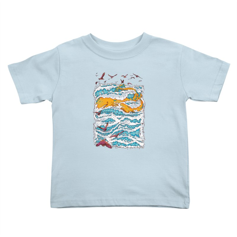 The Golden Whale Kids Toddler T-Shirt by Emerson Rauth