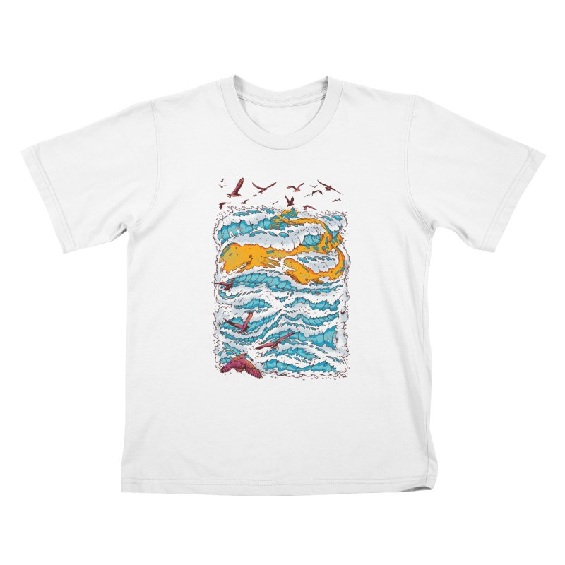 The Golden Whale Kids T-shirt by Emerson Rauth