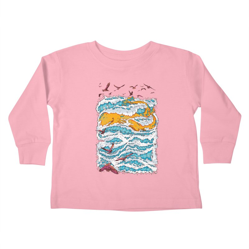 The Golden Whale Kids Toddler Longsleeve T-Shirt by Emerson Rauth