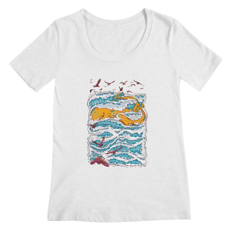 The Golden Whale Women's Scoopneck by Emerson Rauth