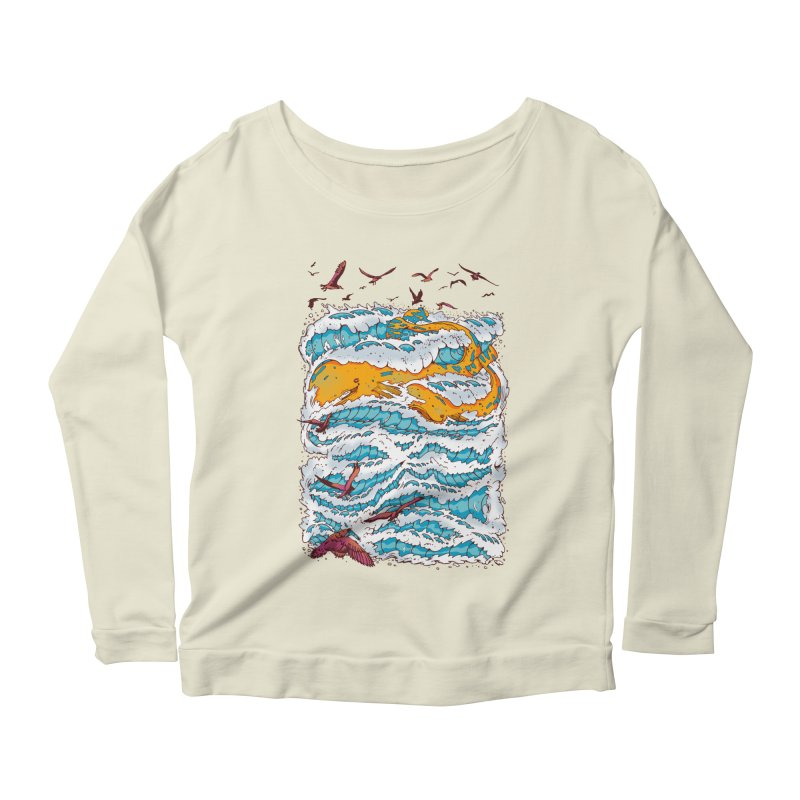 The Golden Whale Women's Longsleeve Scoopneck  by Emerson Rauth