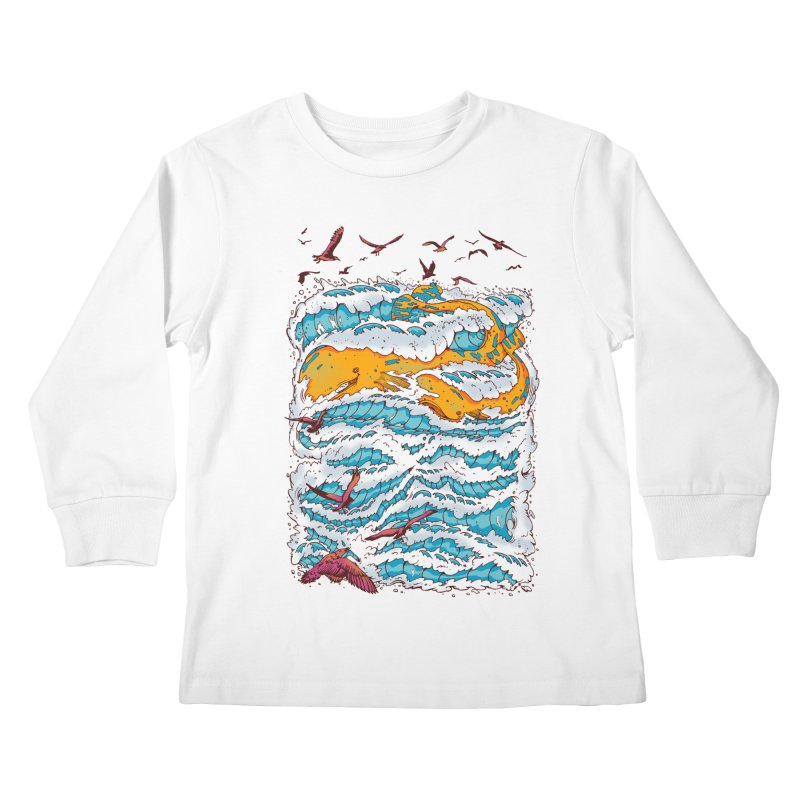 The Golden Whale Kids Longsleeve T-Shirt by Emerson Rauth
