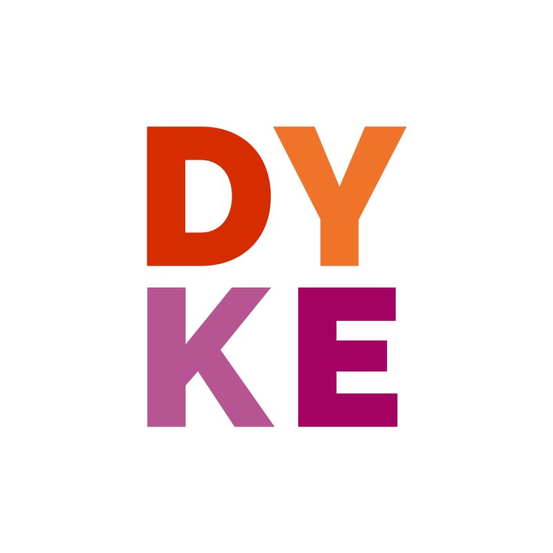 DYKE Men's T-Shirt by emily gwen's store